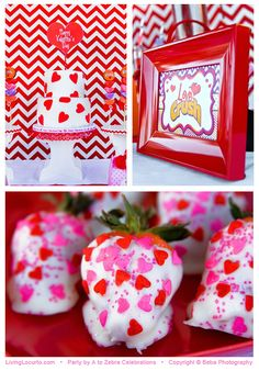 """An adorable """"Love Crush"""" Valentine's Day party featured on LivingLocurto.com"""