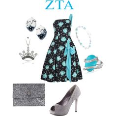 Zeta Tau Alpha inspired outfit