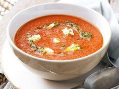 Tomaten-Currysuppe mit Ziegenfrischkäse Rezept
