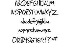 """Huidige lettertype """"geschreven"""" - SF Grunge"""