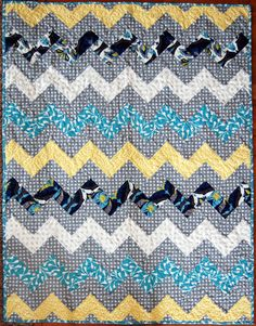 Zig Zag Chevron Quilt using only rectangles- no sewing triangles!