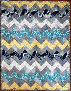 Zig Zag Chevron Quilt - The Cloth Parcel
