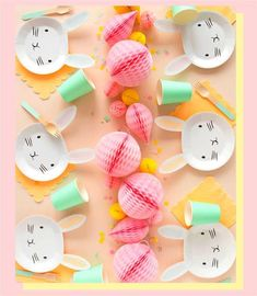 🌟Tante S!fr@ loves this 📌🌟Create the cutest Easter table with these Bunny Plates! Birthday Plate, Bunny Birthday, Easter Birthday Party, Bunny Crafts, Easter Crafts For Kids, First Birthday Parties, First Birthdays, Diy Craft Projects, Ostern Party