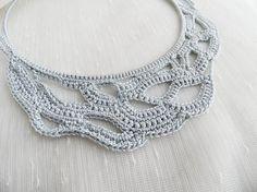 mavi crochet necklace modern necklace handmade by theflowerdesign, $40.00