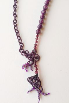 A personal favorite from my Etsy shop https://www.etsy.com/listing/259921416/plum-jasper-and-silk-chain