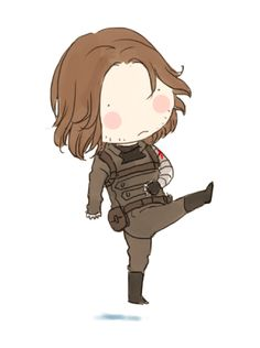 """xxxxxx6x: """" Inspired by the dancing of Elizabeth and Chris in the Ellen Show.Haha. That's too adorable of them. This is Cancan, Cap. :D """" Some people said above GIF looks like Bucky. So I did another..."""