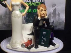VIDEO GAME GOT THE Controller FUNNY WEDDING CAKE TOPPER MW3