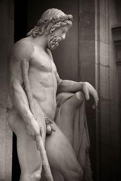 Aristée, dieu des jardins. Il était le fils d'Apollon et de la nymphe Cyrène. (Oeuvre de François-Joseph Bosio 1817 - Musée du Louvre - Paris).