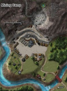 Pickaxe Peak Dwarven Mining Camp in the Dawnforge Mountains