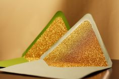 Glittered Envelope Liners - Custom - 6 Colors Available. $0.60, via Etsy.
