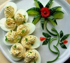 creatief besparen en meer: Gevulde eieren