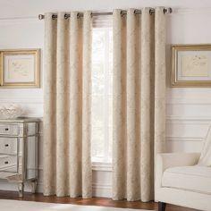 Valeron Belvedere 63-Inch Grommet Top Room-Darkening Window Curtain Panel in Ivory