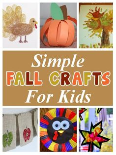 Fall Crafts for Kids - diy home sweet home