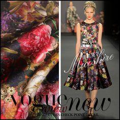 Telas 2017 New Fashion felt super wax Rose Print 3% elastic 97% Silk Women's Dress Fabric Plus Size Cheongsam Clothes Fabric