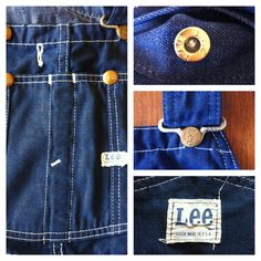 Lee overalls courtesy of dustbowl vintage