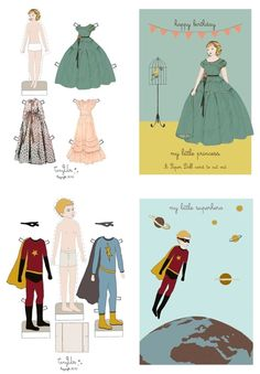 Paper doll and paper super hero