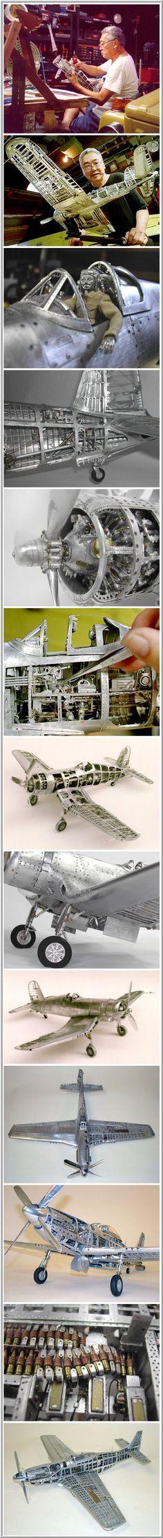 Unique model airplanes made of aluminum