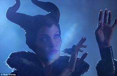 Angelina plays the curse-casting evil Maleficent