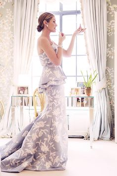 Aerin Lauder  Ready for the Met Gala 2014 in her Oscar de la Renta gown & jewelry by Verdura - Photographed by Taylor Jewell for Vogue