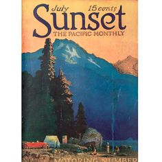 Car camping, July 1917 Sunset cover