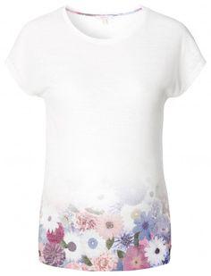 Tehotenské tričko s krátkym rukávom  ESPRIT MATERNITY - krémová