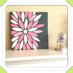 12x12 Canvas Flower Art Home Decor Housewarming Gift by Craftingly, $20.00