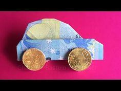 Geldschein falten: Auto - Einfach Geld falten - DIY Geldgeschenk: Hochzeit, Geburtstag - YouTube