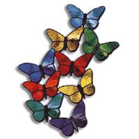 Free Pattern, Fluttersby - Glass Crafters Stained Glass Supplies