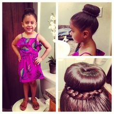 High bun with braid and Summer Dress SophiaAlexis