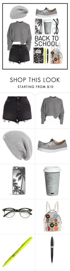 """In Grey"" by cianne-hale on Polyvore featuring Ksubi, UGG Australia, Vans, Fitz & Floyd, Fendi, Pineider, Design Letters, BackToSchool, grey and beanie"