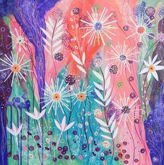 Tangerine Dream original mixed media painting