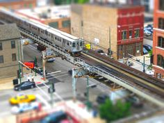 mini elevated train in chicago. by clarkmaxwell, via Flickr