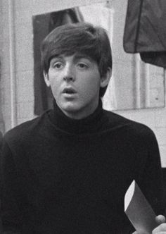 famous people with black turtle necks | 1k Black and White music vintage the beatles sixties retro Paul ...