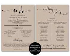 Pinterest The Worlds Catalog Of Ideas - 5x7 wedding program template
