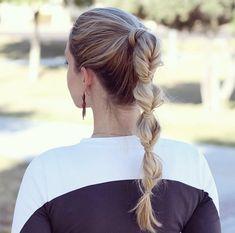 Faux braid ponytail by Annie Pearce