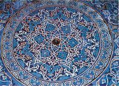 Fig. 6: Bursa, la Mosquée Verte. Plafond de la loge latérale droite.
