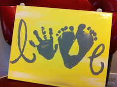 Personalized canvas.... Kids feet and hands