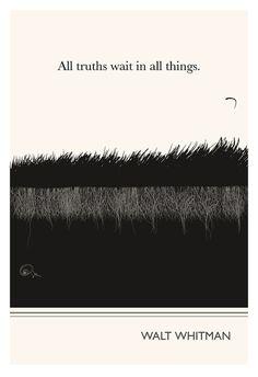 Original Illustration - Fine Art Prints - Walt Whitman quotation - Art Posters - Literature inspired art. $24.00, via Etsy.