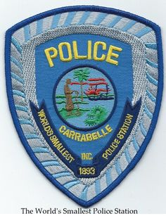 Florida, Carabelle Police Department patch.The World's Smallest Police Station