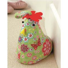 sewing pattern chicken doorstop