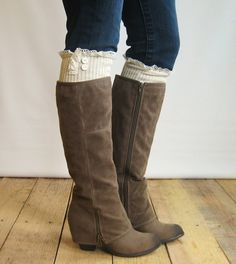 I have been dreaming about cuffed boots for years. love the cream whatever those are sticking out too.