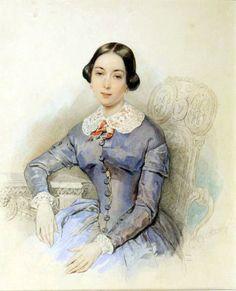 1840 Princess Alexandra Galitzine by Petr Fedorovich Sokolov