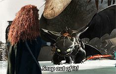 Jack rushed forward, snatching Merida up and carrying her into the sky as Toothless lunged where she had been. Hiccup was horrified. Dreamworks Animation, Disney And Dreamworks, Disney Marvel, Disney Pixar, Merida And Hiccup, Frozen And Tangled, Princess Merida, Snap Out Of It, Disney Crossovers