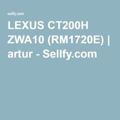 LEXUS CT200H ZWA10 (RM1720E) | artur - Sellfy.com
