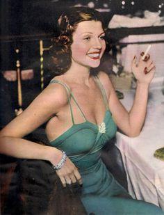 Rita Hayworth ......Uploaded By  www.1stand2ndtimearound.etsy.com