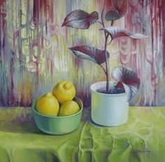 Buy Still life with lemons, Acrylic painting by Elena Oleniuc on Artfinder. Lemon Painting, Apple Art, Painting Still Life, Classical Art, Acrylic Painting Canvas, Be Still, Are You The One, Watercolor, Wall Art