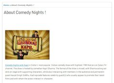 All about Comedy,Entertainment,Movies, Stand Up Comedy and Comedy Nights with Kapil Show!