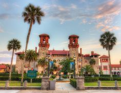 Another iconic landmark on our is the Hotel Alcazar, which now houses Victorian artifacts as the Lightner Museum.