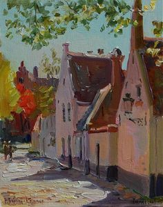 Sunny noon in Bruges,  the Baranovs