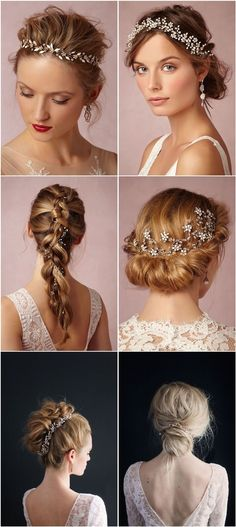 Gallery: Bridal Hairstyles- Wedding Hair Accessories - Deer Pearl Flowers / http://www.deerpearlflowers.com/chic-bhldn-bridal-hair-accessories-for-wedding/bridal-hairstyles-wedding-hair-accessories/